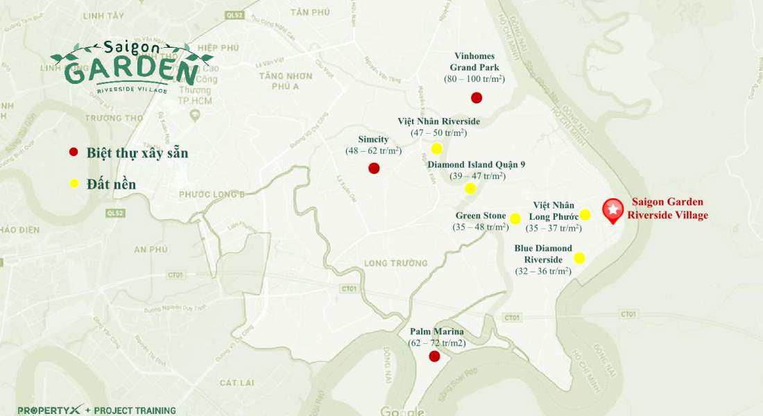 Vị trí dự án Saigon Garden Riverside VillageQuận 9