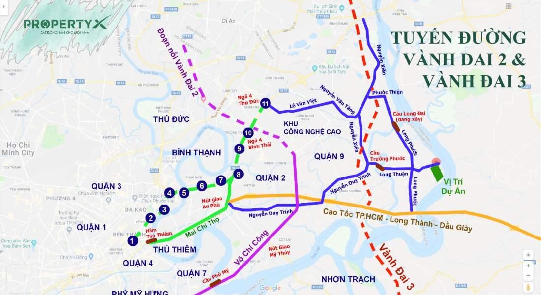 Tuyến đường Vành Đai 2 và Vành Đai 3