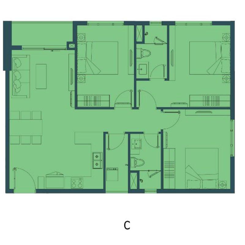 Thiết kế tổng thể căn hộ Vũng Tàu Pearl