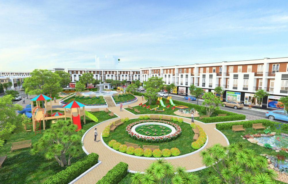 Công viên cây xanh trung tâm dự án Phúc Hưng Golden Bình Phước