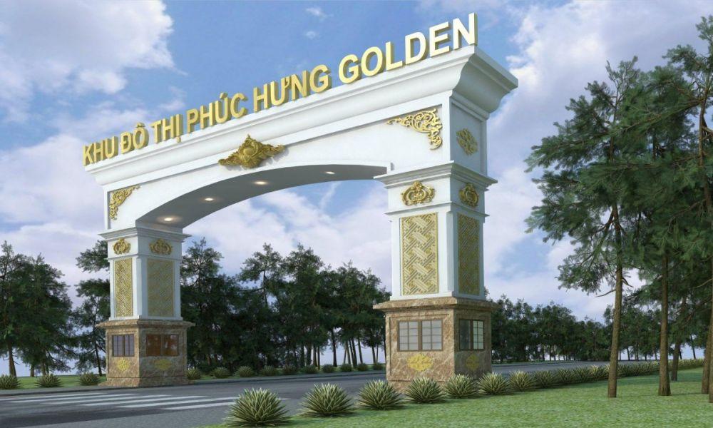 Cổng chính dự ánPhúc Hưng Golden Bình Phước