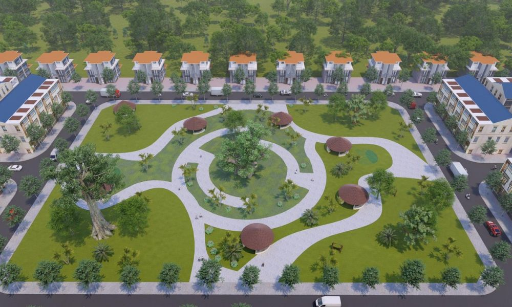 Công viên trung tâm dự ánPhúc Hưng Golden Bình Phước