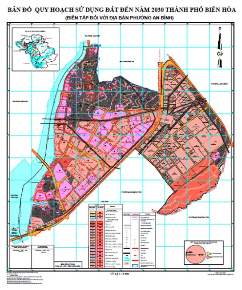 Bản đồ quy hoạch phường Bửu Hoà