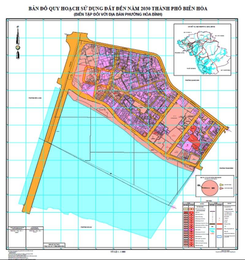Bản đồ quy hoạch phường Hoà Bình