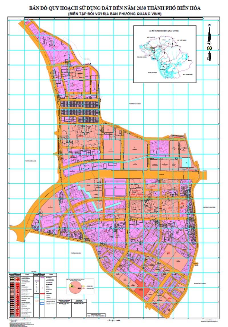 Bản đồ quy hoạch phường Quang Vinh