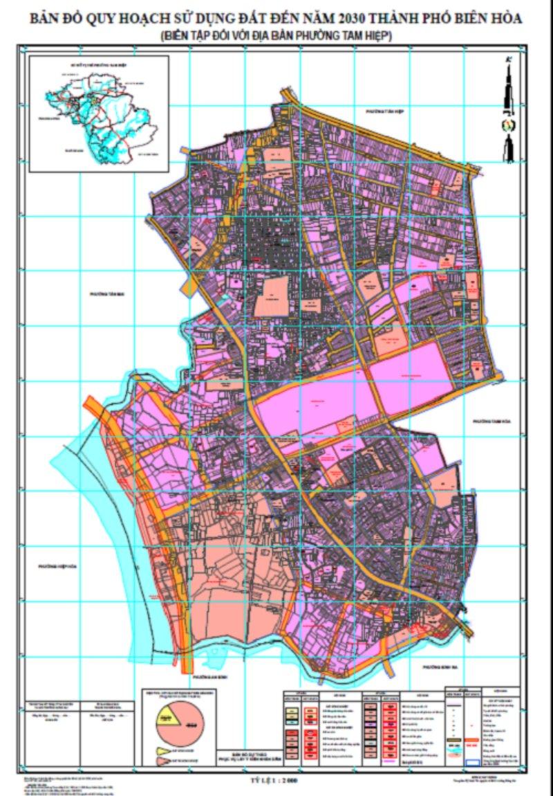 Bản đồ quy hoạch phường Tam Hiệp