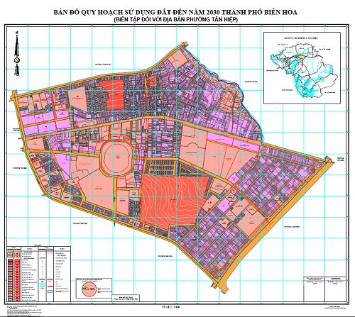 Bản đồ quy hoạch phường Tân Hiệp