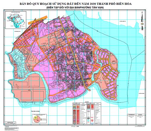Bản đồ quy hoạch phường Tân Vạn