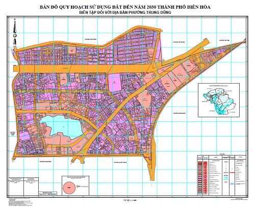 Bản đồ quy hoạch phường Trung Dũng