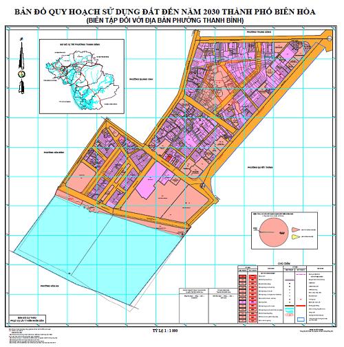 Bản đồ quy hoạch phường Thanh Bình
