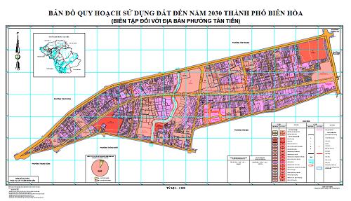 Bản đồ quy hoạch phường Tân Tiến