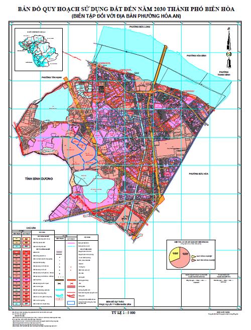 Bản đồ quy hoạch phường Hoà An