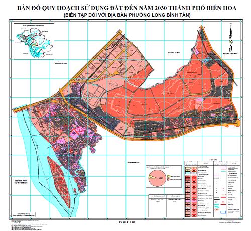 Bản đồ quy hoạch phường Long Bình Tân