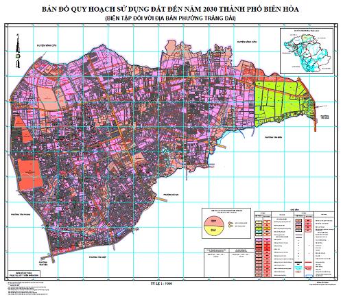 Bản đồ quy hoạch phường Trảng Dài