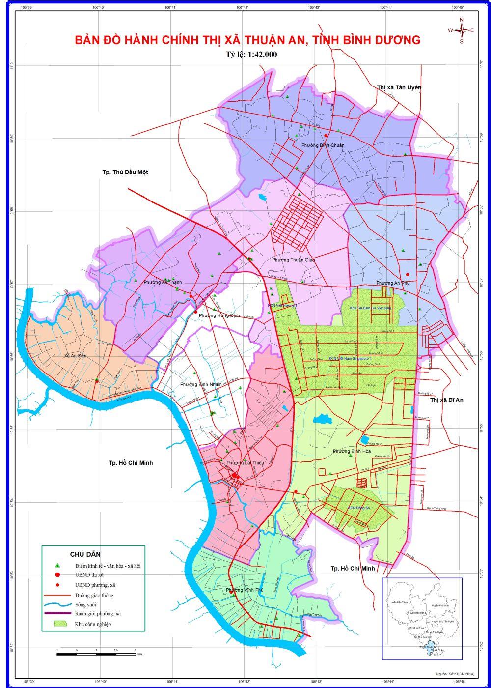 Bản đồ thành phố Thuận An